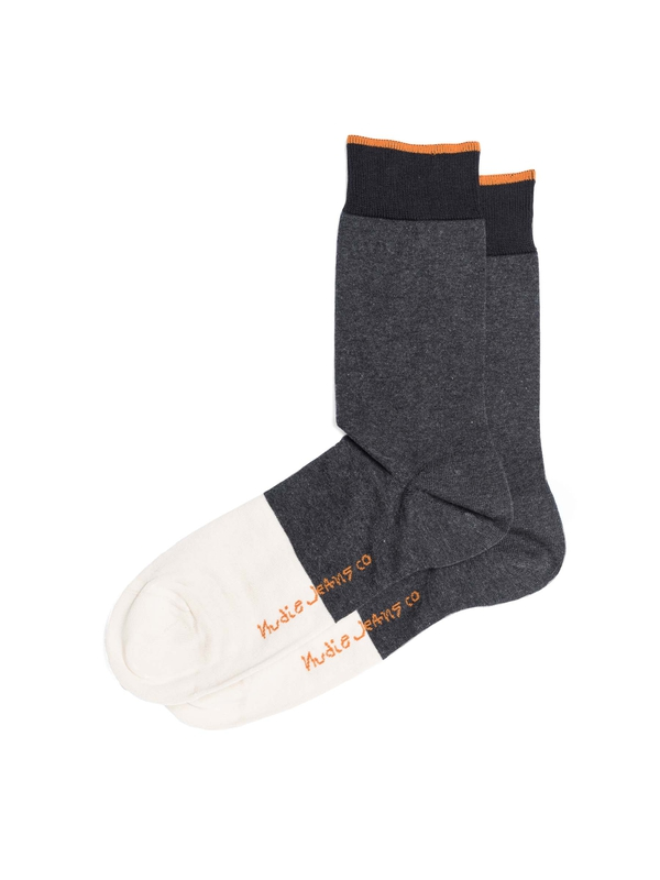 Olsson Toe Panel Socks Dark Grey socks underwear