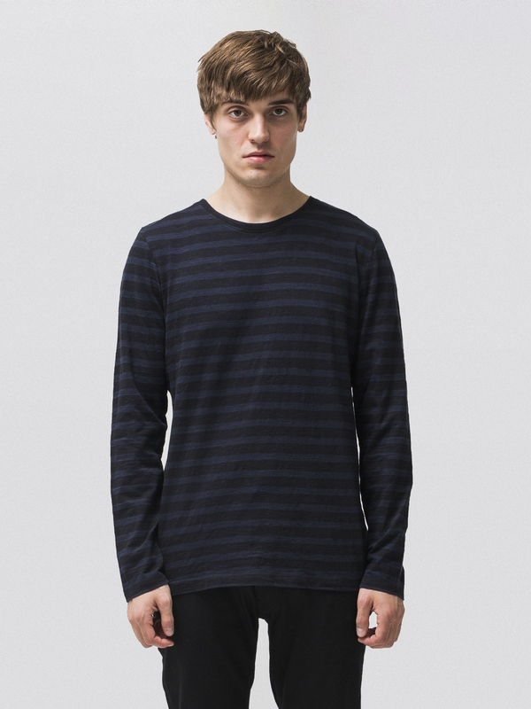 Orvar Club Stripes Black long-sleeved tees