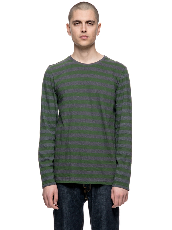 Orvar Block Stripe Grass long-sleeved tees printed