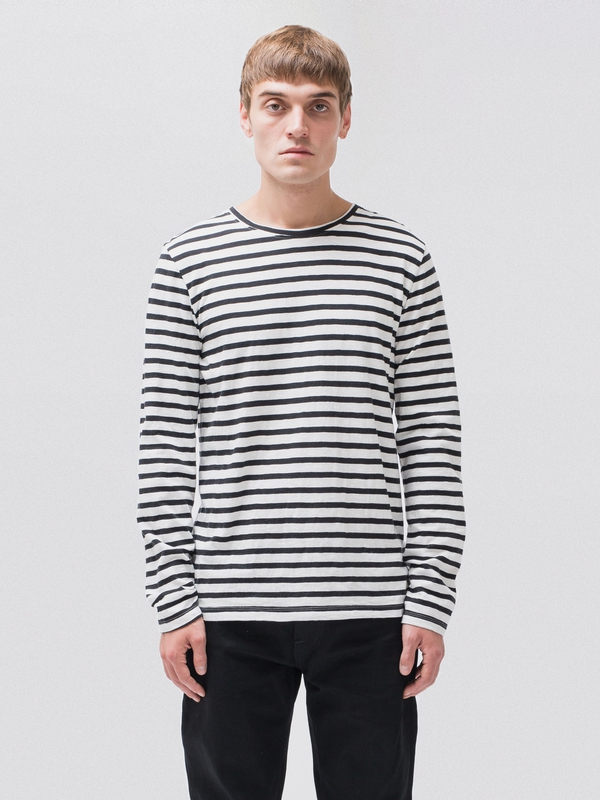 Orvar Graphic Stripe Offwhite/Black t-shirts tees