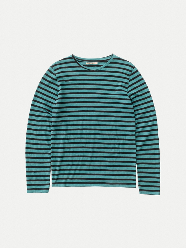 Orvar Long Sleeve Striped Turquoise short-sleeved tees long-sleeved printed