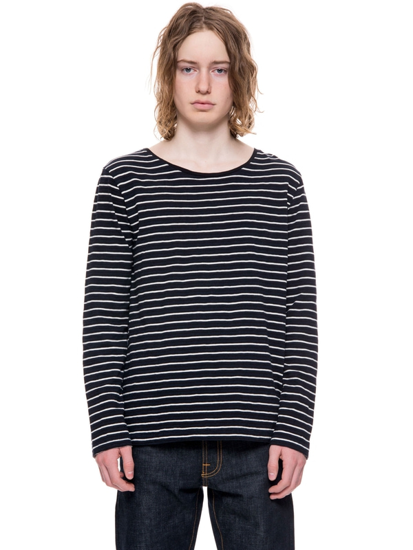 Orvar Tricolor Stripe Black/Beige long-sleeved tees printed