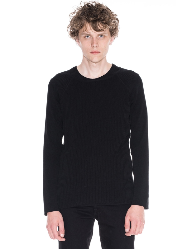 Oskar Mixed Rib Black knits