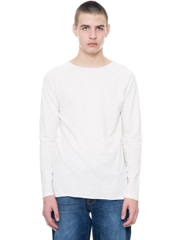 Otto Raw Hem Slub Offwhite long-sleeved tees solid