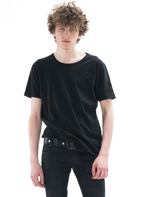 Ove Badges Black short-sleeved tees solid