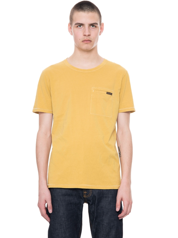 Ove Contrast Stitching Royal Yellow short-sleeved tees solid