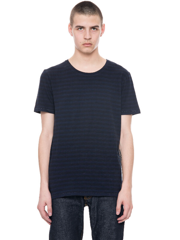 Ove Double Stripe Black/Blue short-sleeved tees solid