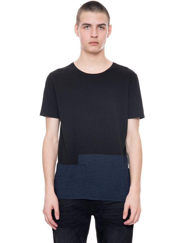 Ove Patched Black/Indigo short-sleeved tees solid
