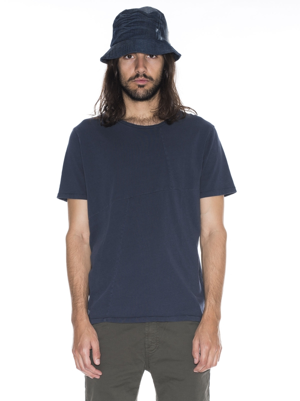 Ove Patched Tee Navy short-sleeved tees solid