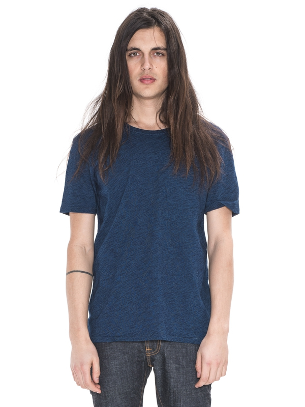 Ove Pocket Tee Washed Out Indigo short-sleeved tees solid