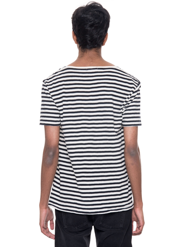 Ove Skewed Stripe Offwhite/Black