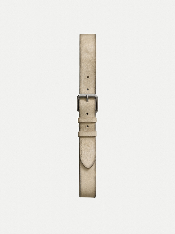 Pedersson Suede Belt Beige belts accessories