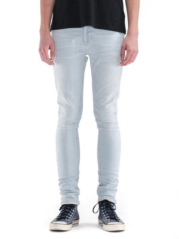 Pipe Led Azur Bleach prewashed jeans