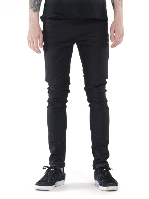 Pipe Led Clean Slate black jeans