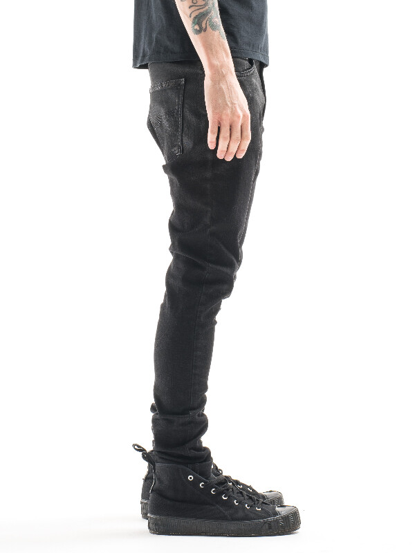 Pipe Led Shiny Black black jeans