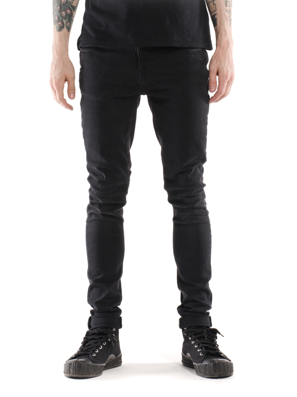 Pipe Led Used Black prewashed jeans