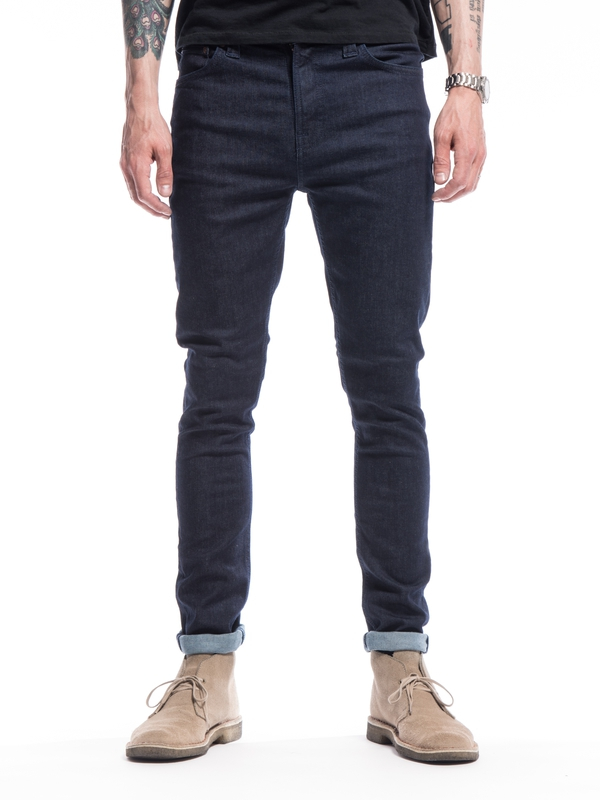 Pipe Led Dry Dark Navy dry jeans