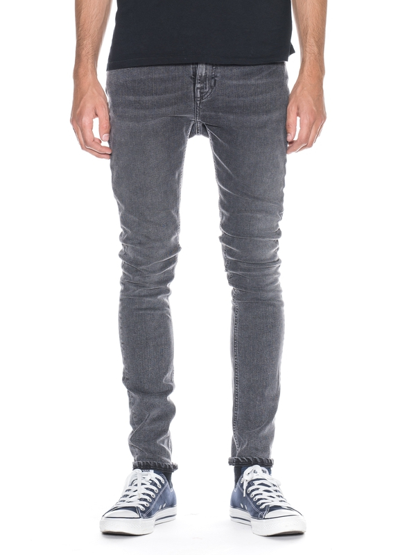 Pipe Led Grey Marble prewashed jeans