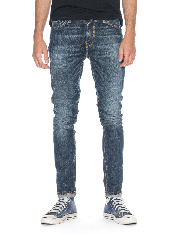 Pipe Led Iron Blue prewashed jeans