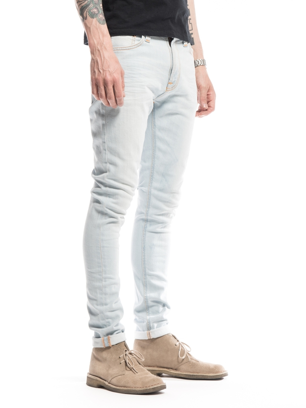 Pipe Led Pillar White prewashed jeans