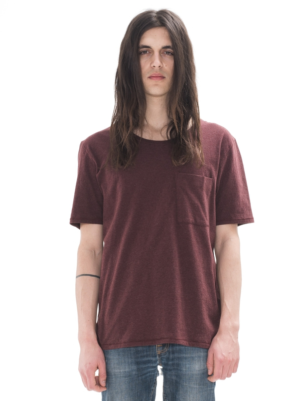 Pocket Tee Melange Plum short-sleeved tees solid