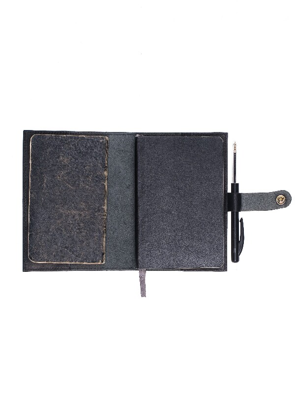 Poesson Notebook Cover Black wallets accessories