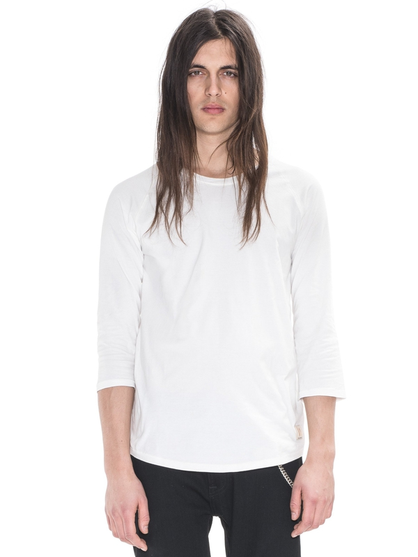 Quarter Sleeve Tee Offwhite quarter-sleeved tees solid