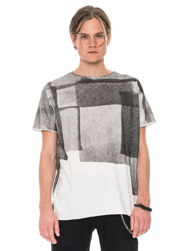 Raw Hem T-shirt Slub Collage Offwhite short-sleeved tees printed