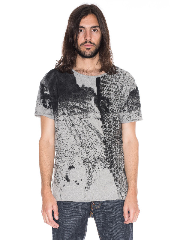Roger Map Greymelange short-sleeved tees printed