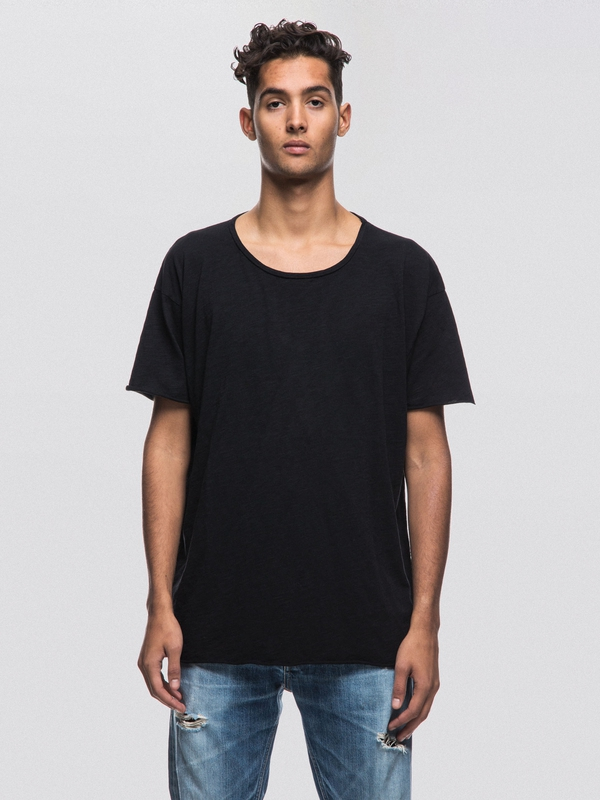 Roger Slub Black t-shirts tees short-sleeved solid