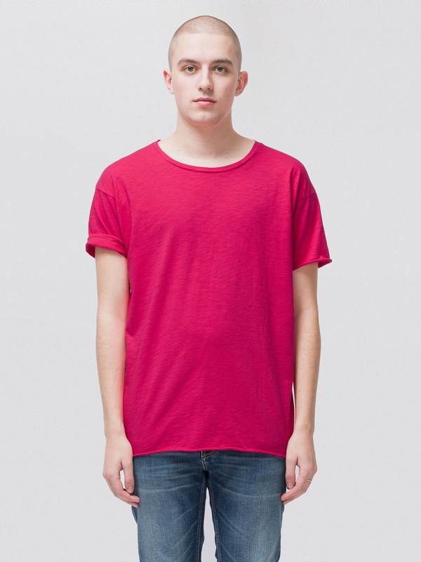 Roger Slub Cerise short-sleeved tees solid