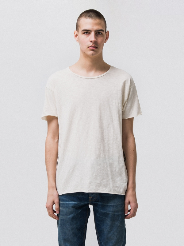 Roger Slub Offwhite t-shirts tees short-sleeved solid