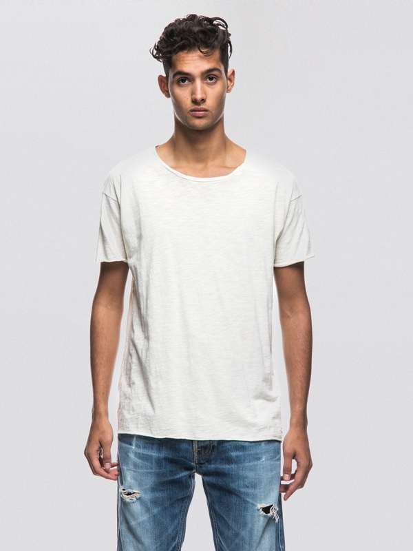 Roger Slub Offwhite short-sleeved tees solid