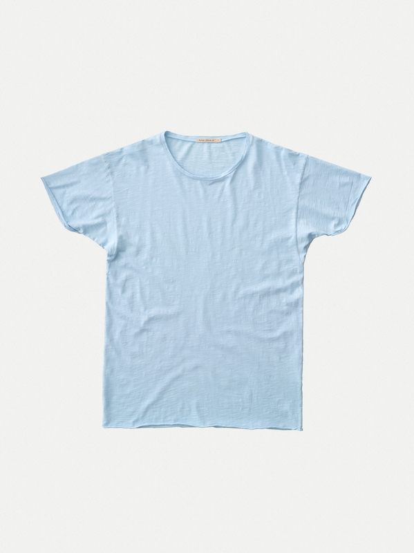 Roger Slub Skyblue short-sleeved tees solid