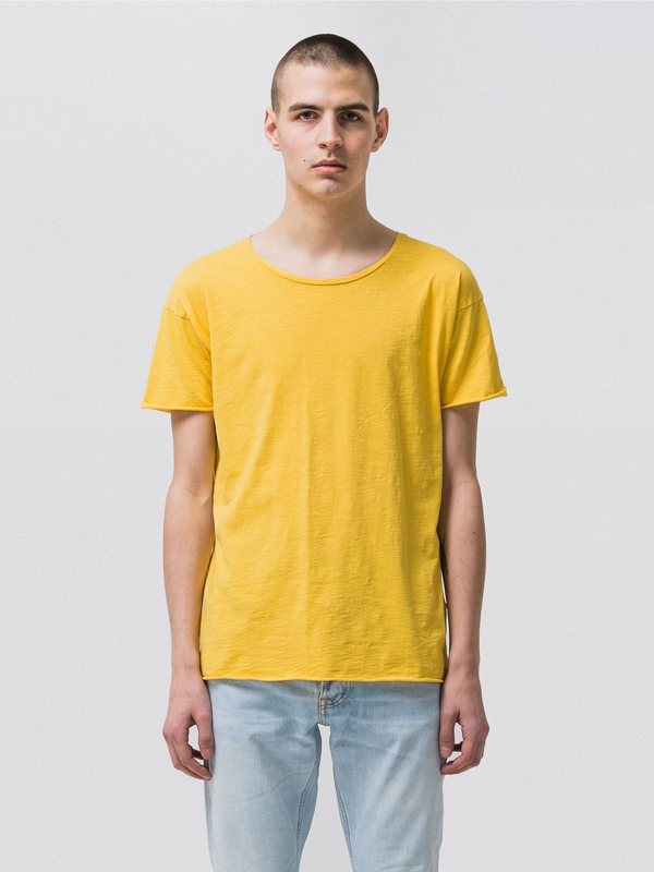Roger Slub Sun Yellow short-sleeved tees solid