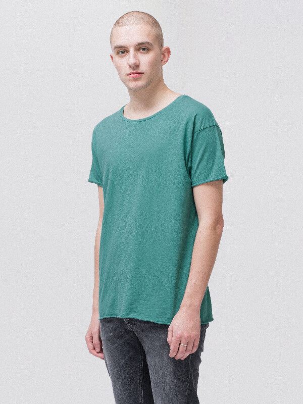 Roger Slub Turquoise short-sleeved tees solid