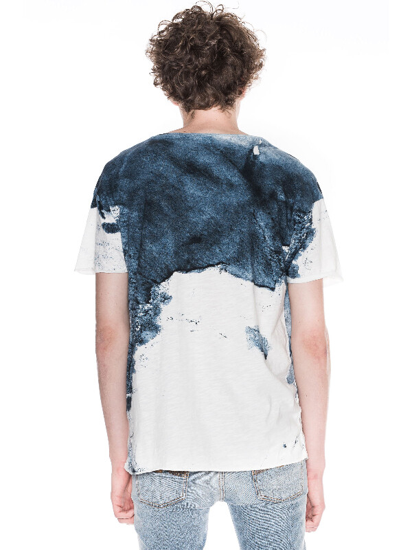 Roger Smudge Print Offwhite/Navy