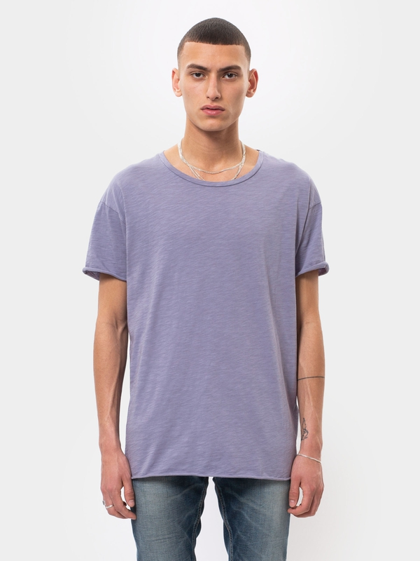 Roger Slub Lilac short-sleeved tees