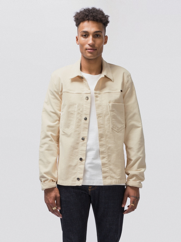Ronny Cord Dusty White prewashed denim-jackets