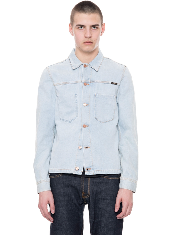 Ronny Crispy Ocean prewashed denim-jackets