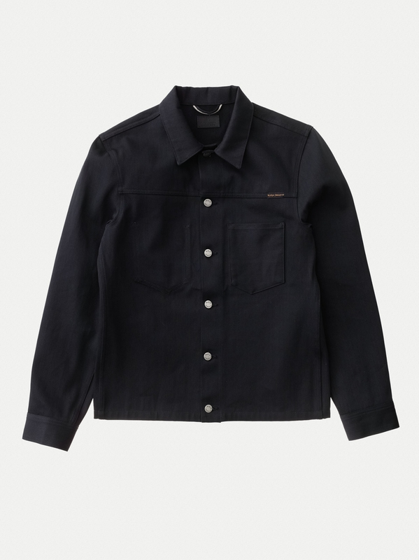 Ronny Dry Black Selvage black denim-jackets selvage