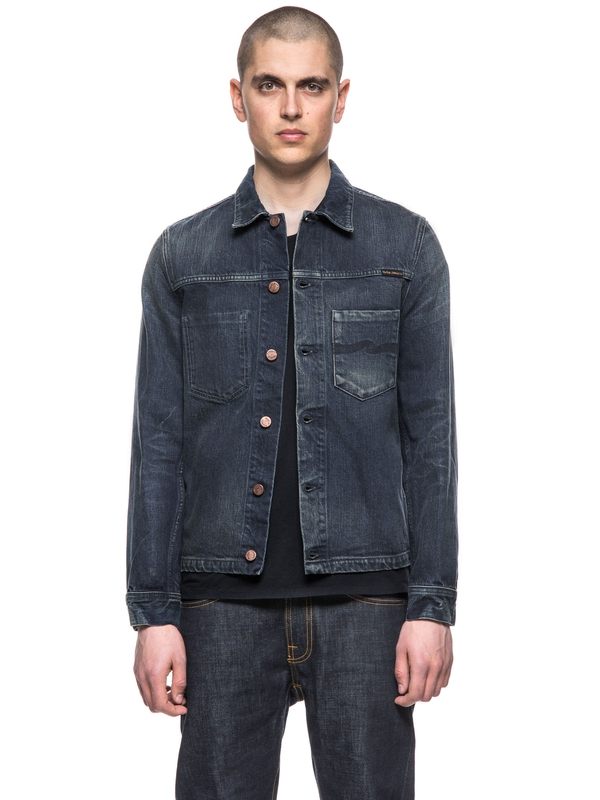 Ronny Dark Worn Denim prewashed denim-jackets