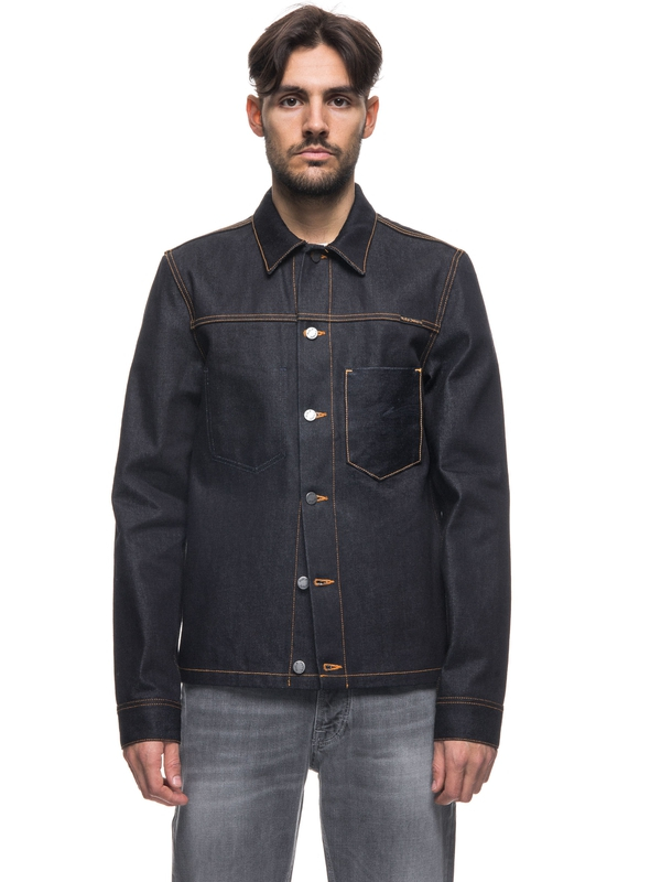 Ronny Dry Dark Selvage Denim dry denim-jackets selvage