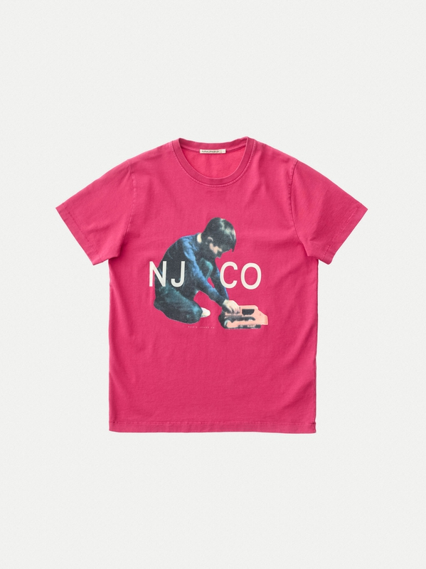 Roy Logo Boy Cerise short-sleeved tees printed