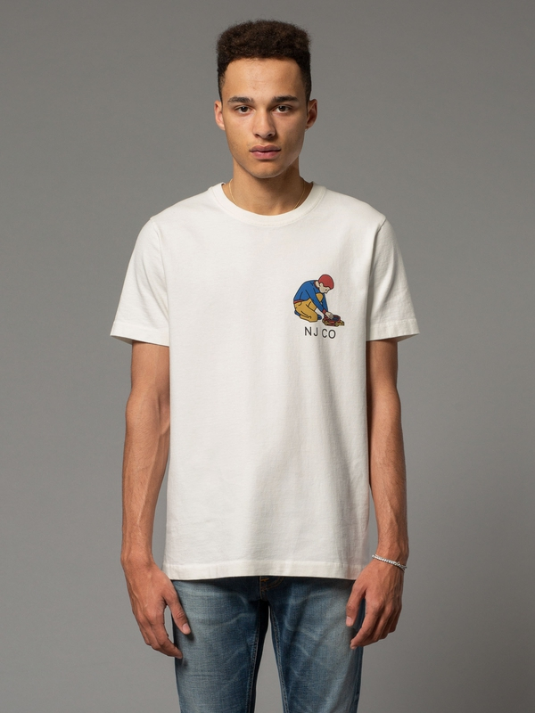 Roy Multi Logo Boy Offwhite short-sleeved tees