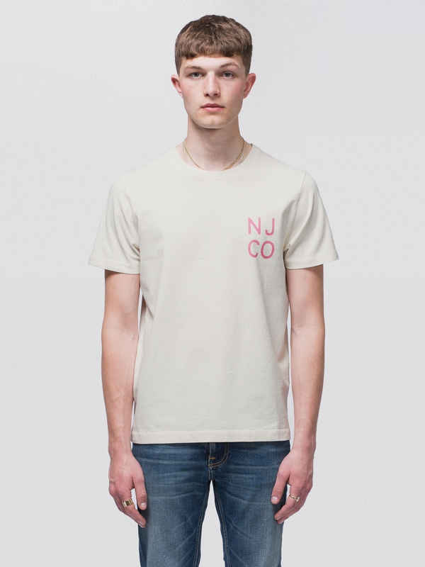 Roy NJCO Dusty White short-sleeved tees printed