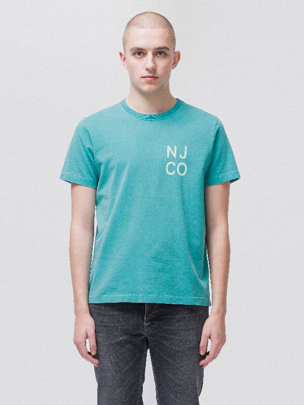 Roy NJCO Turquoise short-sleeved tees printed