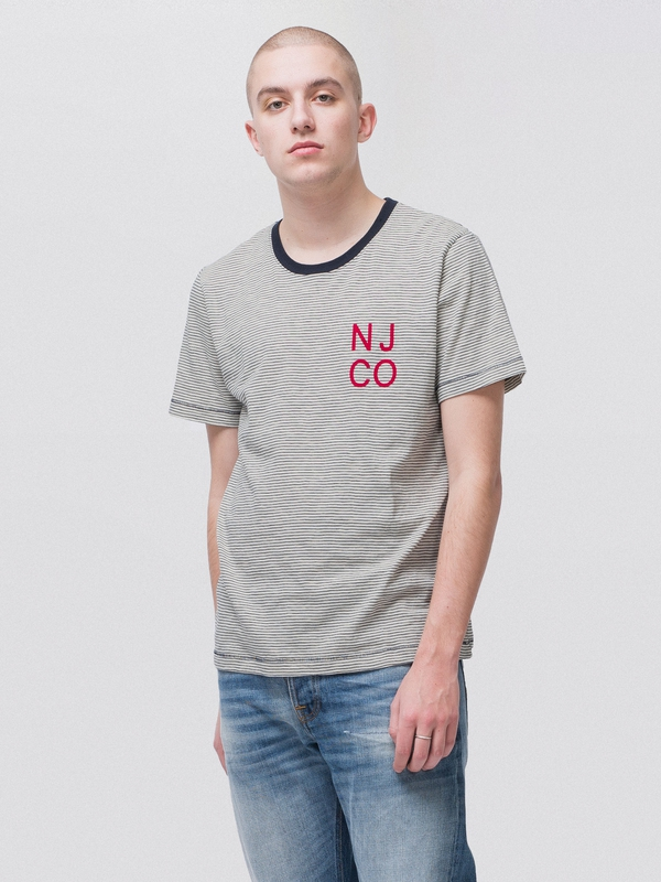Roy Twisted Baby Offwhite Navy short-sleeved tees printed