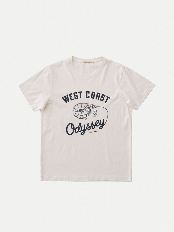 Roy West Coast Odyssey Dusty White short-sleeved tees printed