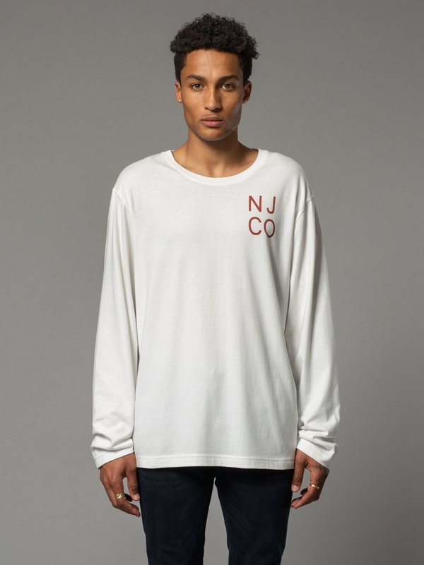 Rudi Logo Boy Offwhite long-sleeved tees